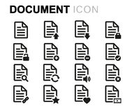 Vector line document icons set Royalty Free Stock Image