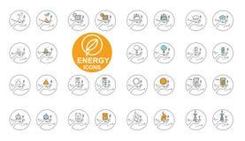 Vector Line ENERGY icon set design 2. Vector Line ENERGY icon set design Royalty Free Stock Image