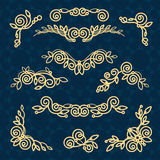 Vector line frame design elements,ornament, emblem Royalty Free Stock Images