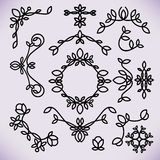 Vector line frame design elements,ornament, emblem Stock Photography