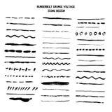 Vector line grunge sketch border. Hand Drawn Brush pen stroke.  stock illustration