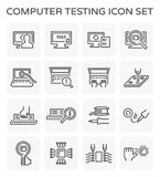 Computer testing icon Stock Image
