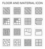 Floor material icon. Vector line icon of floor and material Stock Image