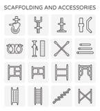 Scaffolding line icon Stock Photos