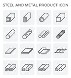 Steel pipe icon. Vector line icon of steel pipe and plate product  for industry work Stock Images