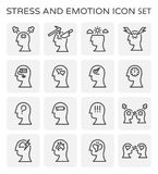 Stress emotion icon. Vector line icon of stress and emotion Stock Image