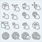 Vector Line Icons Set Stock Photography