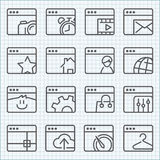 Vector line icons set Stock Photo