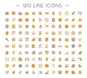 Vector line icons for web and business Stock Photos