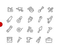 Tools Icons // Red Point Series Royalty Free Illustration