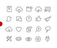Web & Mobile Icons 8 // Red Point Series Royalty Free Illustration