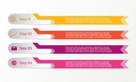 Vector line infographic. Business diagrams, presentations and charts. Background. Stock Photos