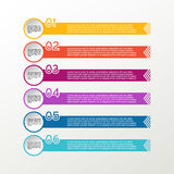 Vector line infographic. Circle. Business diagrams, presentations and charts. Background. Vector line infographic. Circle. Business diagrams, presentations and Stock Images