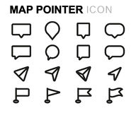 Vector line map pointer set royalty free illustration