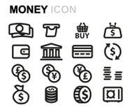 Vector line money set Royalty Free Stock Image
