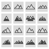Vector line mountains icons set stock illustration
