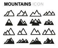 Vector line mountains set royalty free illustration
