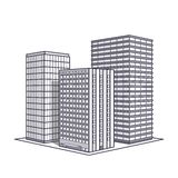 Vector line office building Royalty Free Stock Images