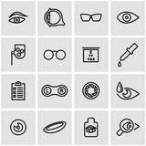 Vector line optometry icon set Royalty Free Stock Photography