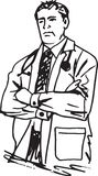 Doctor man vector illustration Royalty Free Stock Photo