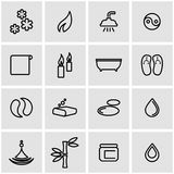 Vector line spa icon set Stock Images