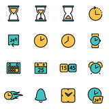 Vector line time set Royalty Free Stock Images