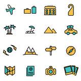 Vector line travel set Stock Images