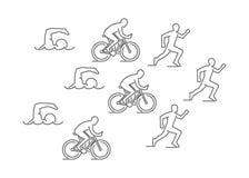 Vector line triathlon symbol Stock Images