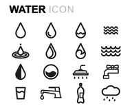 Vector line water icons set Stock Photography
