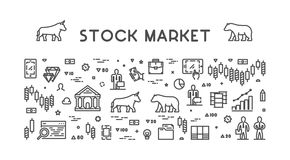 Vector line web concept stock market Royalty Free Stock Photography