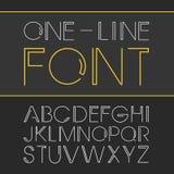 Vector lineaire doopvont - eenvoudig en minimalistic alfabet in lijnstijl Royalty-vrije Stock Afbeelding