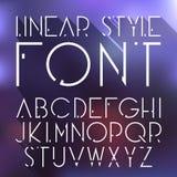 Vector lineaire doopvont - eenvoudig en minimalistic alfabet in lijnstijl Royalty-vrije Stock Foto