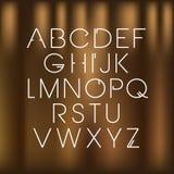 Vector lineaire doopvont - eenvoudig en minimalistic alfabet in lijnstijl Royalty-vrije Stock Afbeeldingen