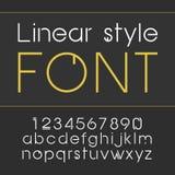 Vector lineaire doopvont - eenvoudig en minimalistic alfabet in lijnstijl Stock Foto