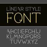 Vector lineaire doopvont - eenvoudig en minimalistic alfabet in lijnstijl Stock Afbeeldingen