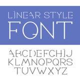 Vector lineaire doopvont - eenvoudig en minimalistic alfabet in lijnstijl Royalty-vrije Stock Foto's