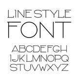 Vector lineaire doopvont - eenvoudig en minimalistic alfabet in lijnstijl Royalty-vrije Stock Fotografie
