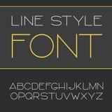 Vector lineaire doopvont - eenvoudig en minimalistic alfabet in lijnstijl Stock Fotografie