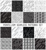 Vector lineal geometric seamless patterns set Royalty Free Stock Photo