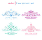 Vector linear abstract emblems Stock Image