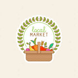Vector linear badge - local market Stock Photography
