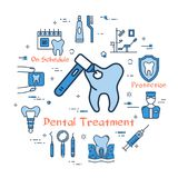 Blue round concept - Dental Treatment vector illustration