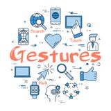 Blue round Gestures concept Royalty Free Stock Photo