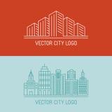 Vector linear city logo concepts Stock Photos