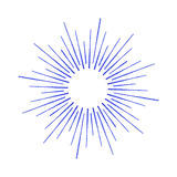 Vector linear drawing of rays of the sun or sun burst by ink. Royalty Free Stock Images