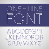 Vector linear font. One line style font. Vector linear font. Line style font Royalty Free Illustration
