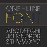 Vector linear font - simple and minimalistic alphabet in line style. Vector linear font - simple and minimalistic alphabet Royalty Free Illustration