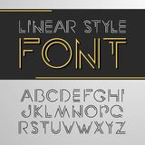 Vector linear font - simple and minimalistic alphabet in line style.  Stock Illustration