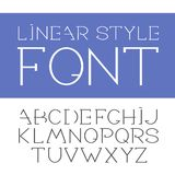 Vector linear font - simple and minimalistic alphabet in line style.  Royalty Free Illustration