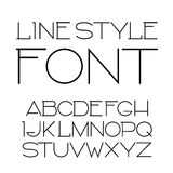 Vector linear font - simple and minimalistic alphabet in line style.  Vector Illustration